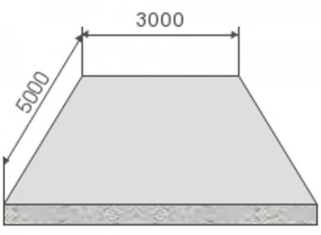 Изображение Расчет материалов монолитного фундамента, плиты